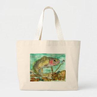 Children's Winning Artwork: trout Canvas Bag