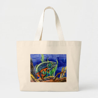 Children's Winning Artwork: vrook trout Jumbo Tote Bag