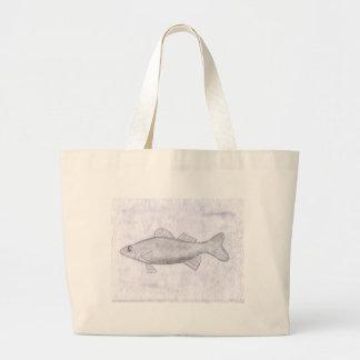 Children's Winning Artwork: walleye Jumbo Tote Bag