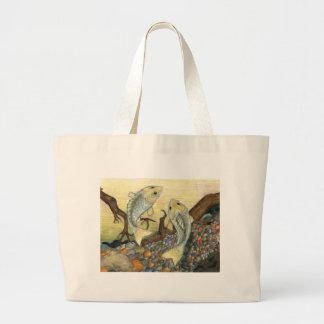 Children's Winning Artwork: white perch Jumbo Tote Bag