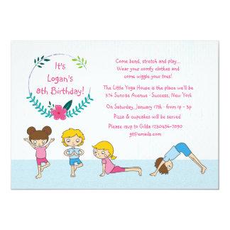 Children's Yoga Party Invitation