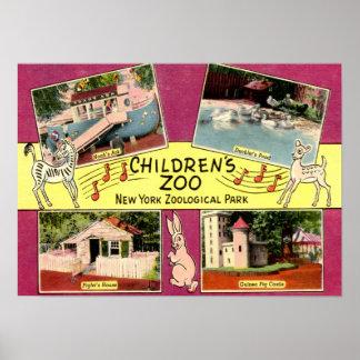 Children's Zoo, Bronx Zoo, NY Vintage Poster
