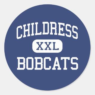 Childress - Bobcats - High - Childress Texas Classic Round Sticker
