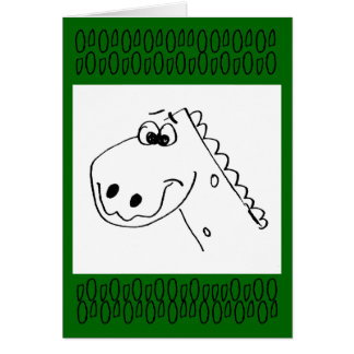 Childs 3rd Birthday Dinosaur (color me) Card