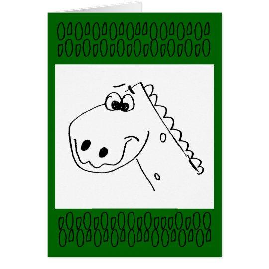 Childs 3rd Birthday Dinosaur (colour me) Card