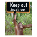 Child's Bedroom  Keep Out Privacy SIgn Print