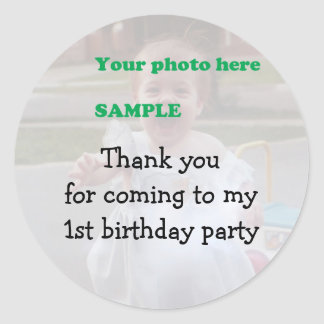 Child's Birthday Party Thank you Round Sticker