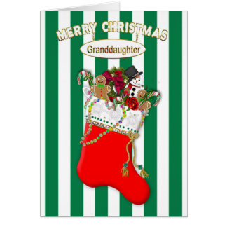 Child's Christmas Stocking - Granddaughter - Candy Card
