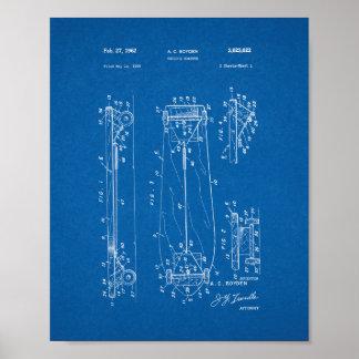 Child's Coaster - Skateboard Patent - Blueprint Poster