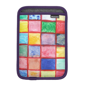 Child's drawing squares pattern iPad mini sleeve