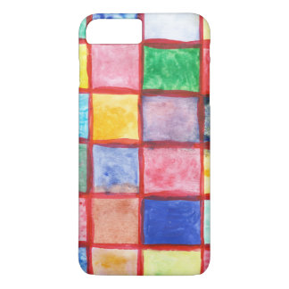 Child's drawing squares pattern iPhone 8 plus/7 plus case
