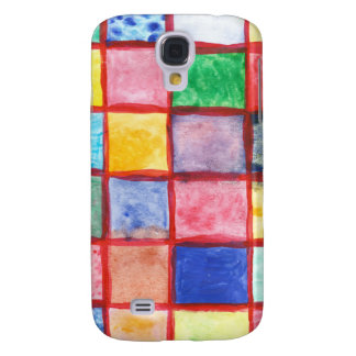 Child's drawing squares pattern samsung galaxy s4 covers