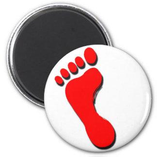 Child's Foot Print 6 Cm Round Magnet