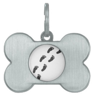 Childs Footprints Pet Name Tag