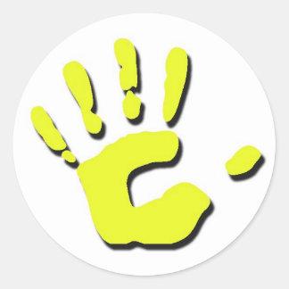 Child's Hand Print Classic Round Sticker