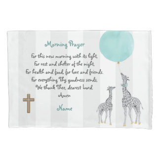 Childs Morning and Evening Prayer Personalized Pillowcase