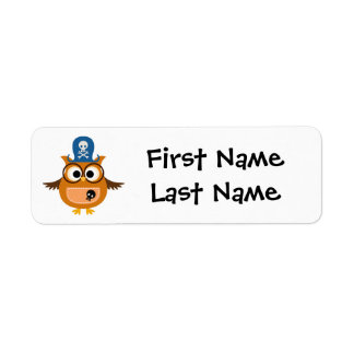 Child's Name Labels with Pirate Owl to Personalize