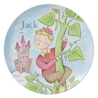 child's name plate with storybook character