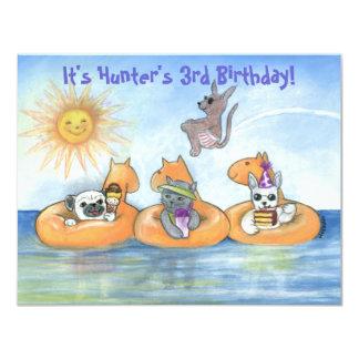 "Child's ""Party Animal"" Birthday Party invite"