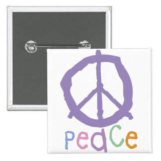 Child's Peace Sign 15 Cm Square Badge