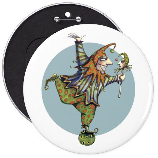 """Child's Play """"Fairy Tale Jester"""" Button"""