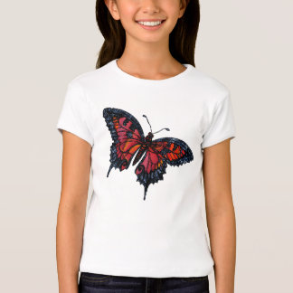 Childs Red Butterfly T-Shirt