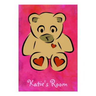 Child's Room Teddy Bear Posters