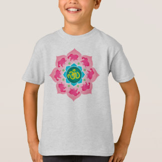 Child's Shirt Pink elephants Namaste Lotus Flower