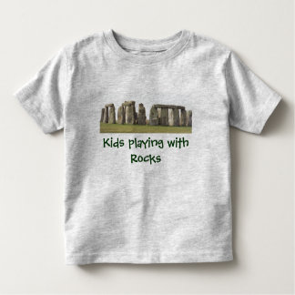 Child's Tee-Kids playing with Rocks, Stonehenge Toddler T-Shirt