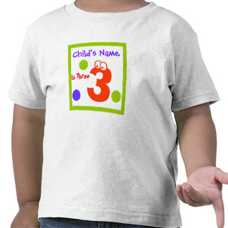 child's third 3rd Birthday, T Shirts