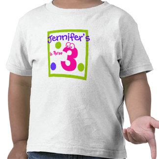 child's third 3rd Birthday, Tee Shirts