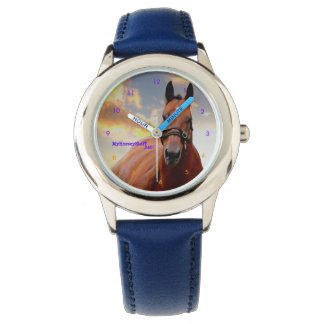 Child's watch with horse on face