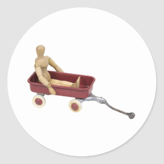 ChildToyWagon112409 Round Sticker