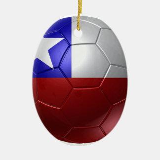 Chile ball ceramic oval decoration