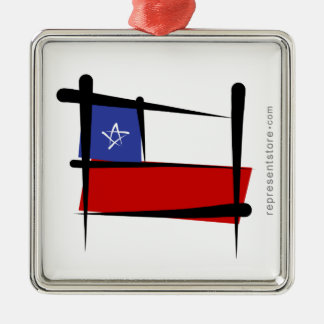 Chile Brush Flag Christmas Ornaments