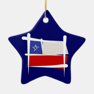 Chile Brush Flag Christmas Ornaments