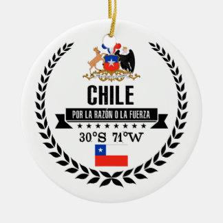 Chile Ceramic Ornament