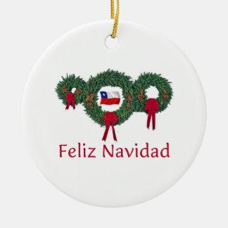 Chile Christmas 2 Ceramic Ornament