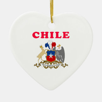 Chile Coat Of Arms Designs Ceramic Heart Decoration