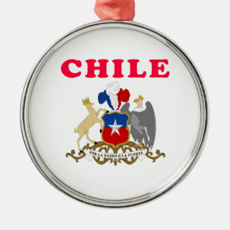 Chile Coat Of Arms Designs Silver-Colored Round Decoration