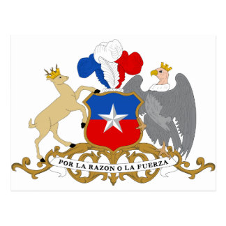 Chile Coat of Arms Postcard