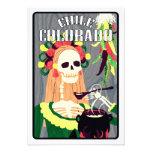 chile colorado (cool scheme) personalized invitation