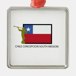 Chile Concepcion South Mission LDS CTR Silver-Colored Square Decoration