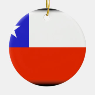 Chile Double-Sided Ceramic Round Christmas Ornament