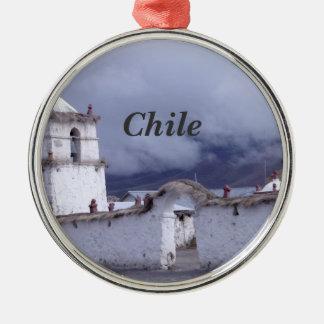 Chile Silver-Colored Round Decoration