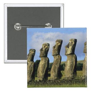 Chile, Easter Island, Rapa Nui, Ahu Akivi 15 Cm Square Badge