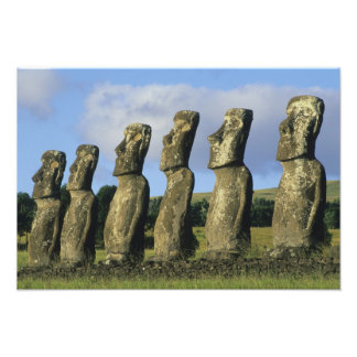 Chile, Easter Island, Rapa Nui, Ahu Akivi Photo Print
