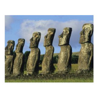 Chile, Easter Island, Rapa Nui, Ahu Akivi Postcard