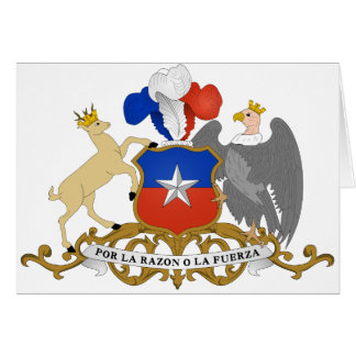 chile emblem greeting card