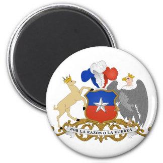 chile emblem 6 cm round magnet